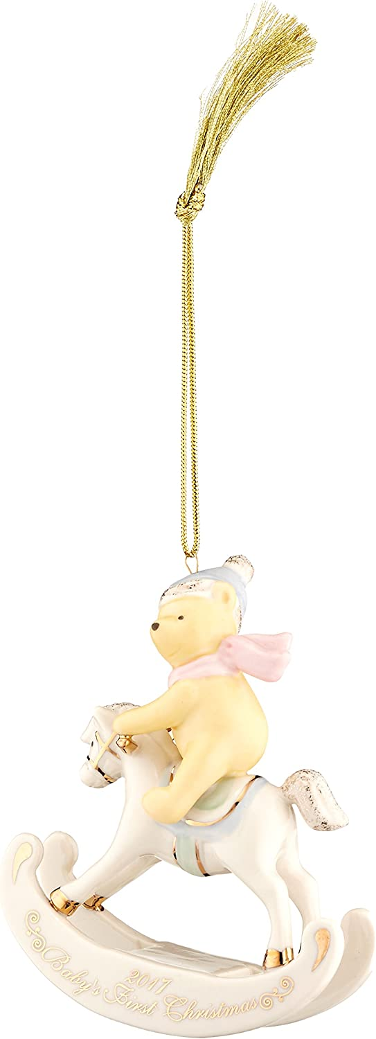 Lenox 869909 Annual China Ornaments 2017 Winnie the Pooh Baby's 1st