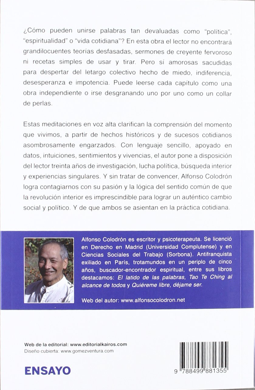 HORA DE DESPERTAR:Política y espiritualidad en la vida cotidiana (Spanish Edition)