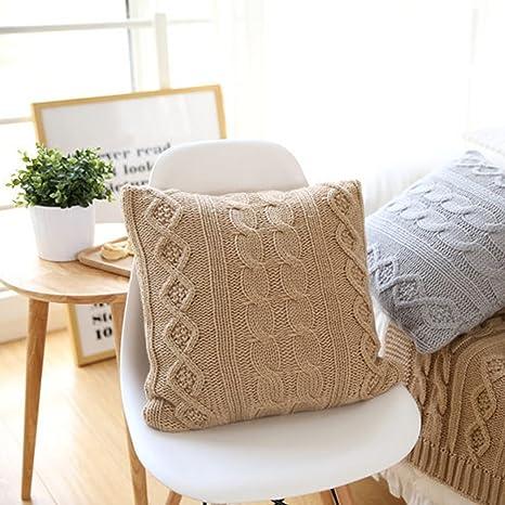OUMOU Manta suave fundas de almohada decorativo fundas de ...