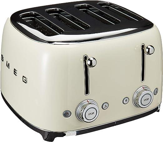 Smeg  Retro 50/'s 4 Slot 4 Slice Cream Toaster