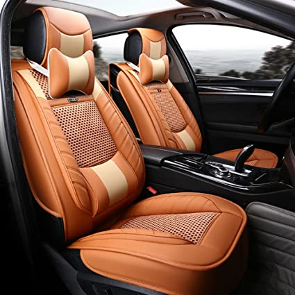 Amazon Com Ankiv Orange Full Set Universal Fit 5 Seats Car 3d
