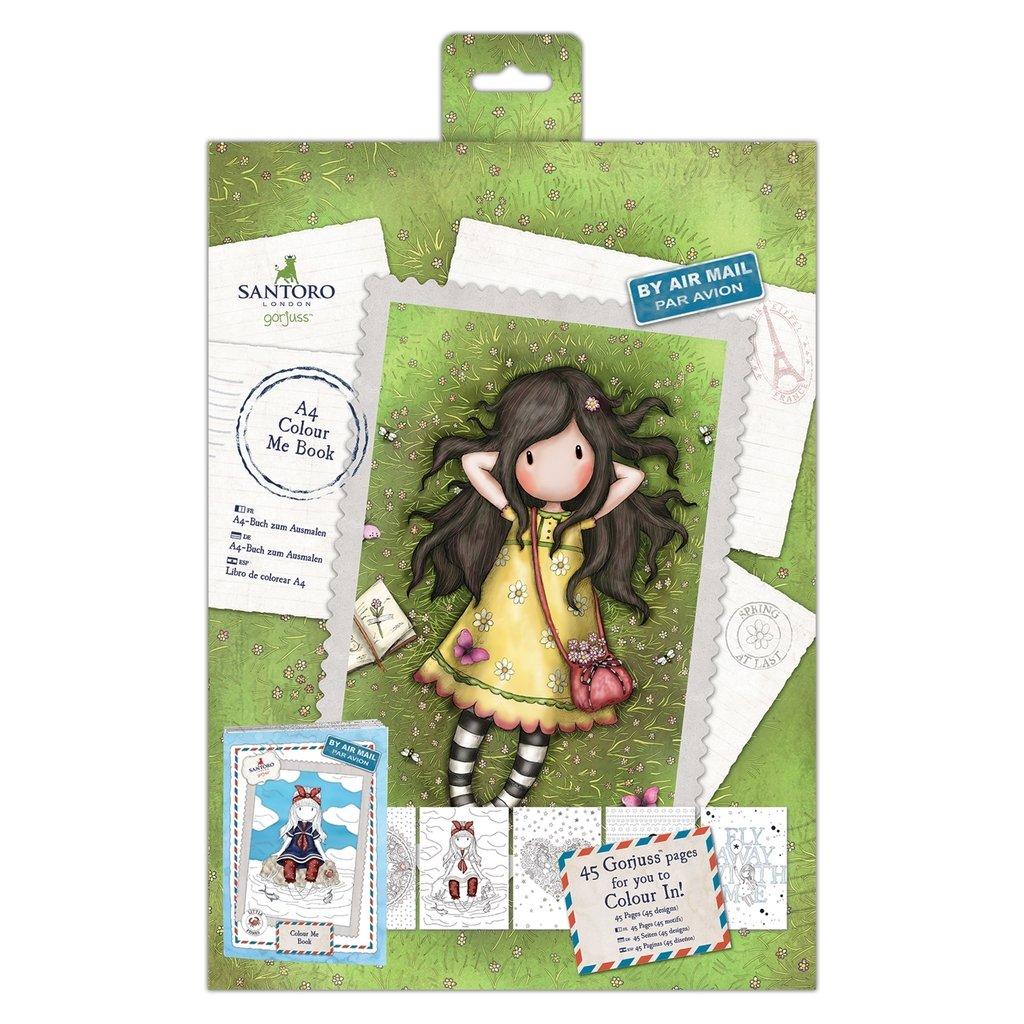 Colección postal artesanal Santoro Gorjuss, libro para colorear A4 ...