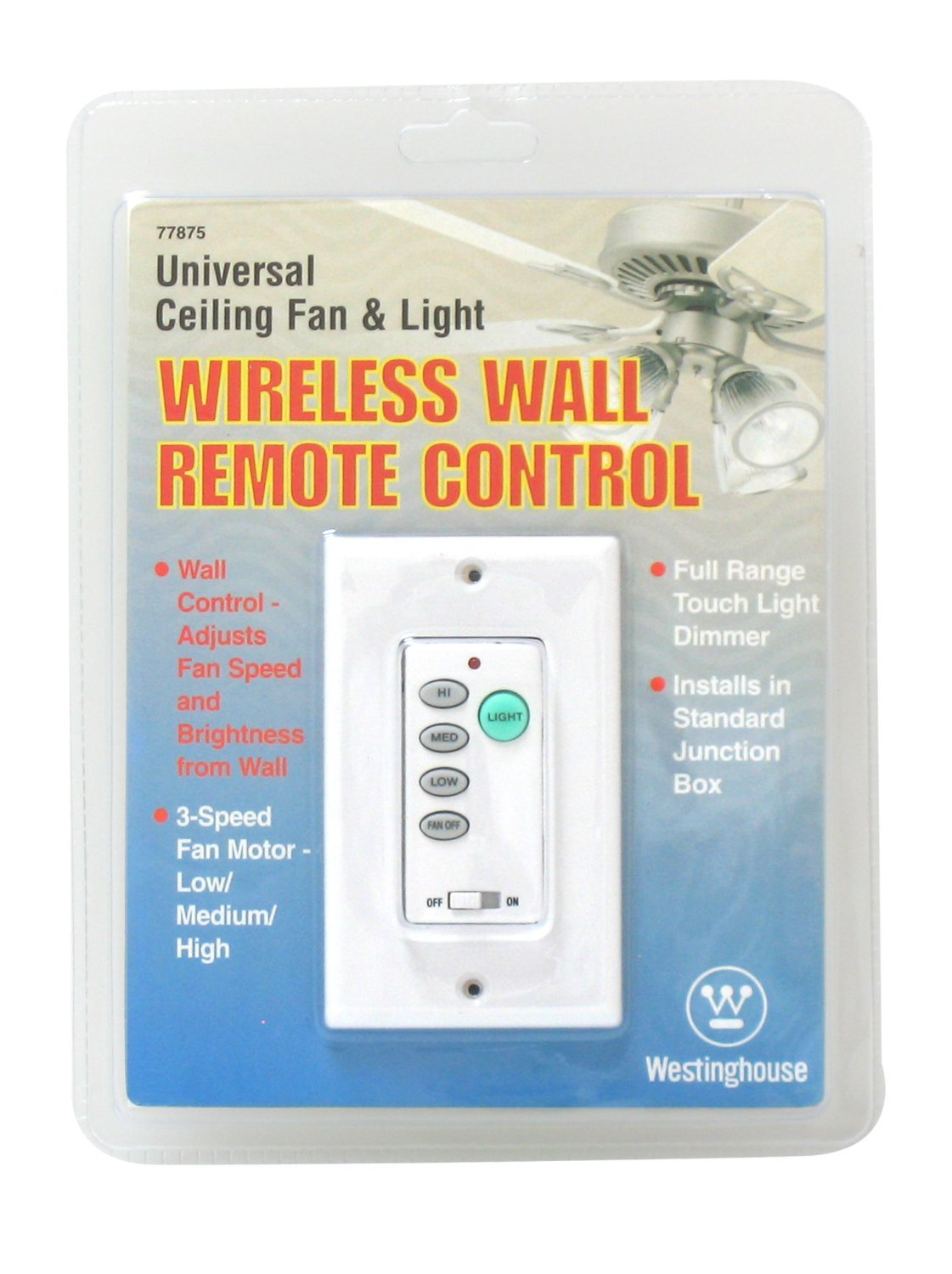Ciata Lighting Wireless Ceiling Fan and Light Wall Control - 2 Pack