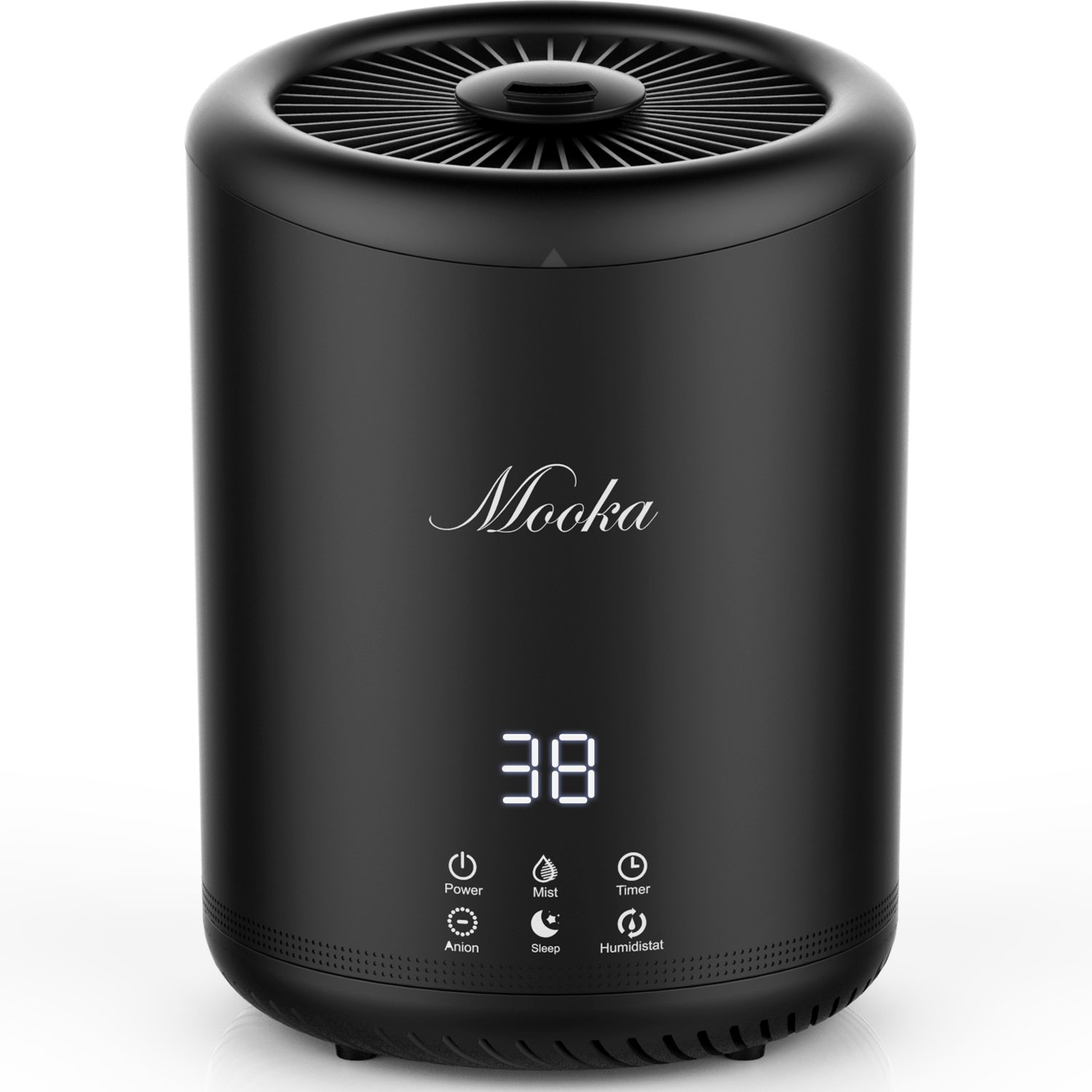 Humidifier, Mooka Ultrasonic Cool Mist Humidifiers With 4L Large Capacity, Touch Button Control, Sleep Mode, Timers, Adjustable Mist Level for Large room, Baby Room