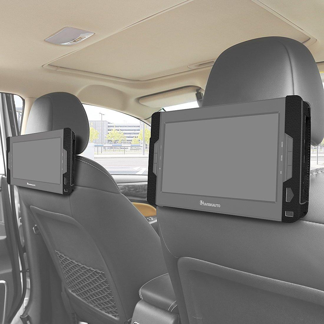 NAVISKAUTO Dual Car Headrest Mount Holder Bracket Only for NAVISKAUTO 10.1 Inch Dual Screen DVD Player and Dual DVD Player