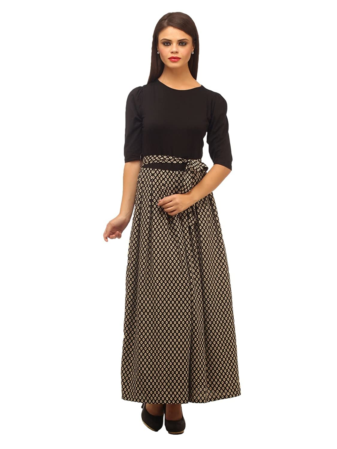 Cottinfab Women's Maxi Dress: Amazon.in: Clothing & Accessories