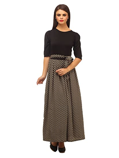 cottinfab Women s Maxi Dress  Amazon.in  Clothing   Accessories 273e5174f
