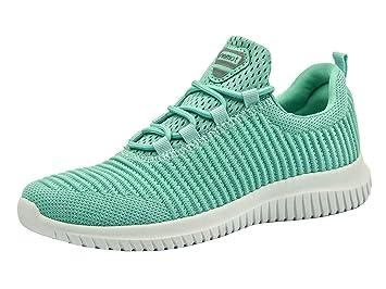 de1b300a7e Riemot Damen Laufschuhe Leicht Turnschuhe Atmungsaktiv Knit Sneaker Fitness  Sportschuhe Grün 36 EU