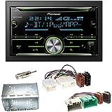 Pioneer MVH-A200VBT USB Bluetooth MP3 WMA Autoradio 2-DIN Moniceiver Einbauset f/ür Suzuki Swift Sport FZ NZ