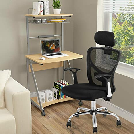 Strange Successfulhome Ergonomic Office Chair Office Chair With Headrest High Back Mesh Chairs With Adjustable Headrest Backrest 360 Degree Rotation Black Pabps2019 Chair Design Images Pabps2019Com