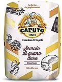 Antimo Caputo Semola Di Grano Duro Rimacinata Semolina Flour 2.2LB (1kg) Bag - All Natural Dough for Fresh Pasta