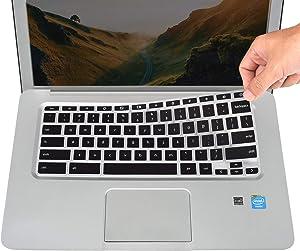 Keyboard Cover for HP Chromebook 14a-na 14a-ca 14b-ca, HP Chromebook 14-ak 14-ca 14-db Series, HP Chromebook 14 &11 G2 G3 G4 G5 G6 EE, Chromebook 11A-NB0013DX Series - Black