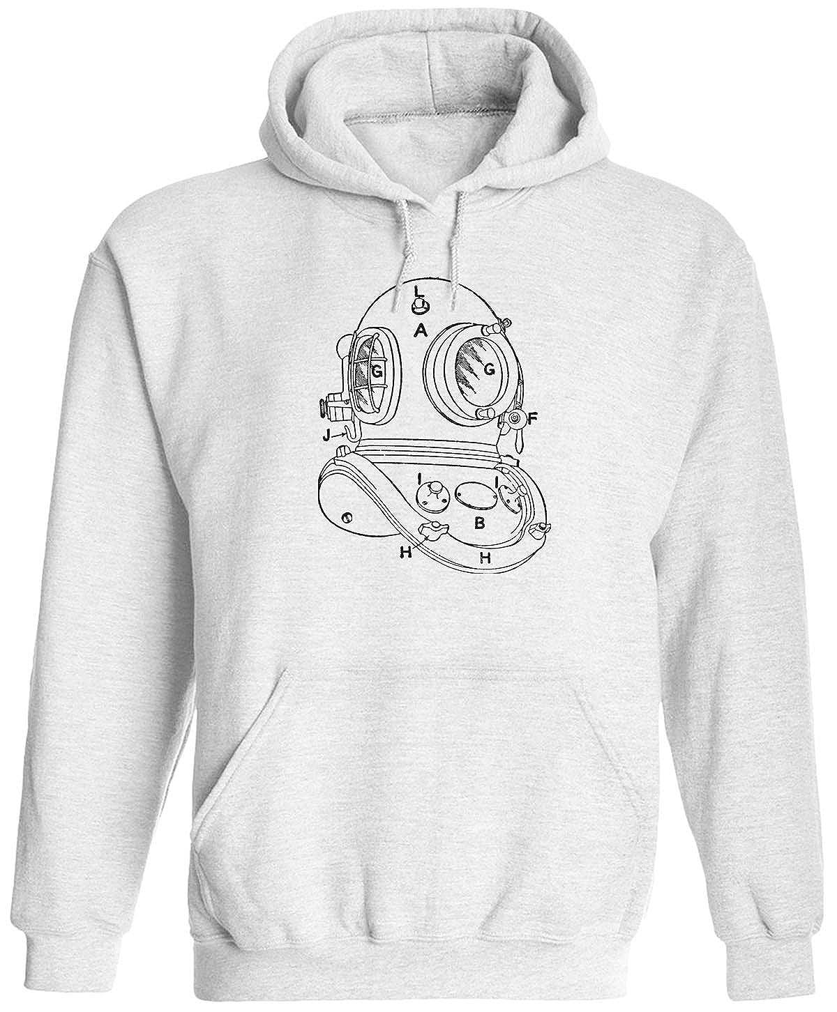 Austin Ink Apparel Antique Diving Helmet Unisex Adult Hooded Pullover Sweatshirt