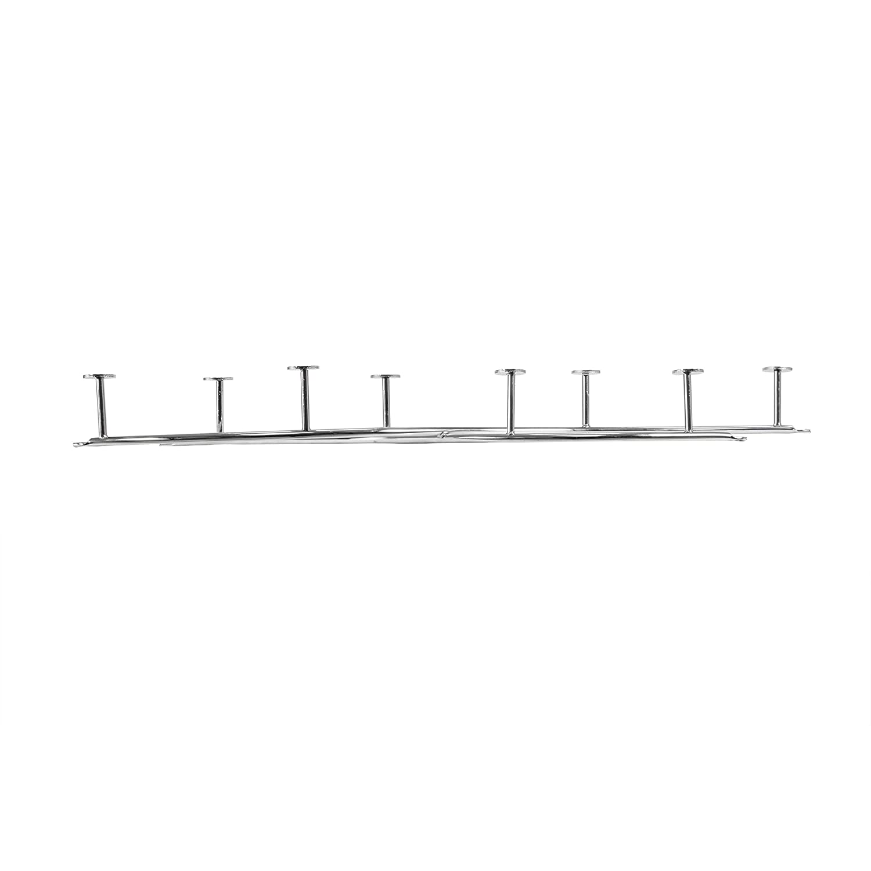 22.00 x 2.00 x 4.75 Inches Spectrum 65210/Sweep Double 8-Hook Coat Rack Black Metallo