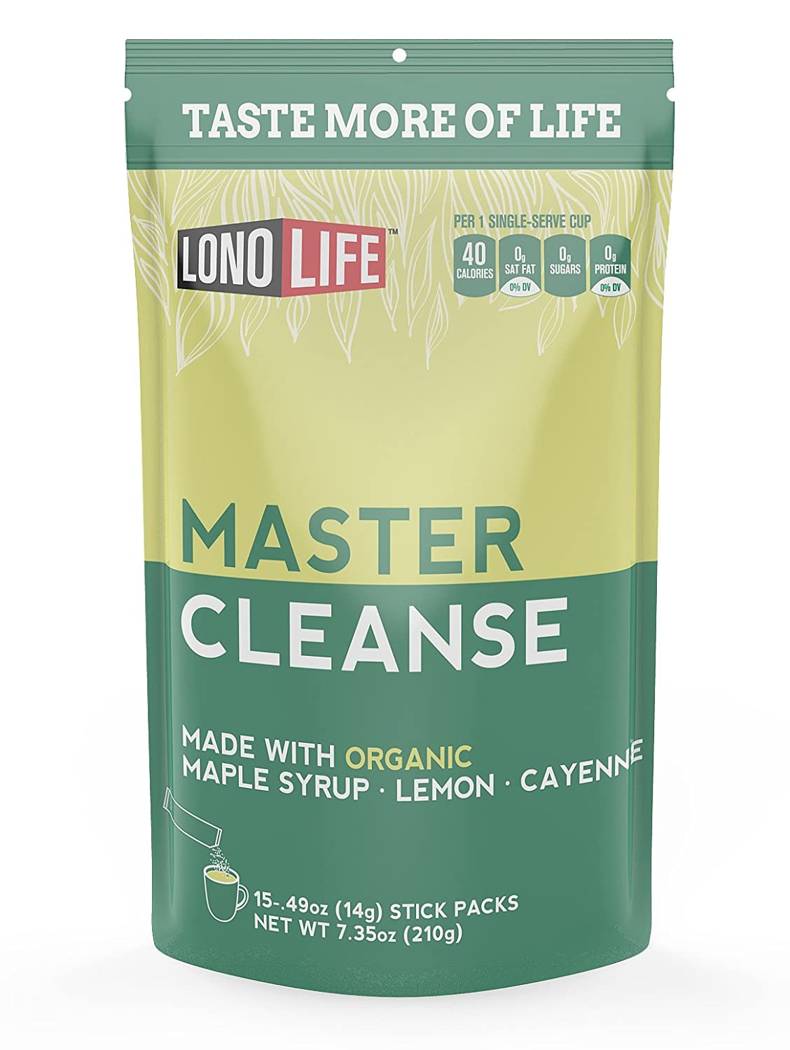 Amazon Lonolife Master Cleanse Lemonade Diet Stick Packs