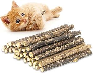 rosyclo 20PCS Cat Chew Silvervine Sticks, Organic for Dental Care Natural Catnip Sticks, Teeth Molar Toys for Kitten Kitty
