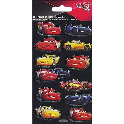 Paper Projects 9105386 Cars 3 - Juego de Pegatinas: Juguetes y juegos
