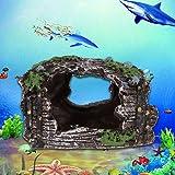 Broadroot Adorno de acuario de resina de simulación para acuario, decoración antigua.
