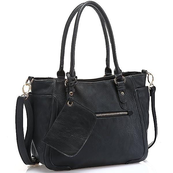 JOYSON Women Handbags Tote Shoulder Bags Top Handle Stylish PU ...
