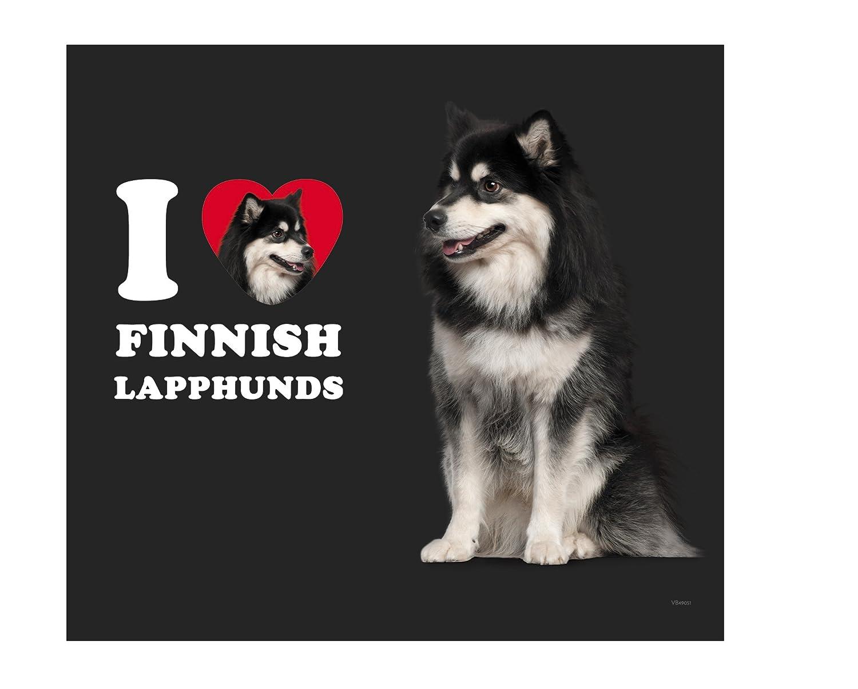 Tree-Free Greetings VB49051 I Heart Finnish Lapphunds Artful Traveler Stainless Water Bottle 18-Ounce
