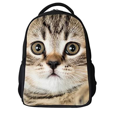 2b69d28bd347 LQRUP Kids Cute Animal Backpack with Cat Face School Bag (cat 1)