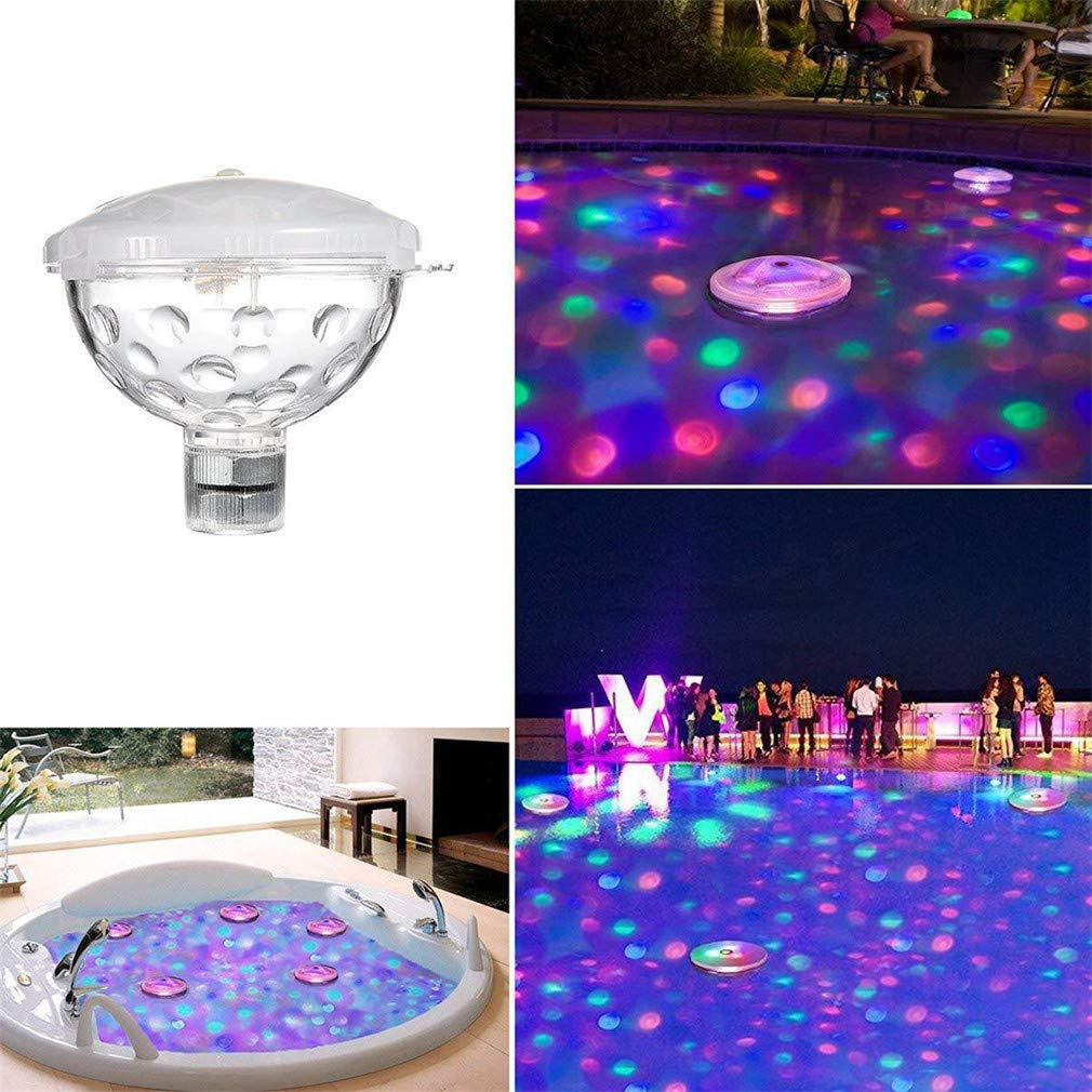 Floating Swimming Disco Pool Party Light Underwater LED Light Show Bath SPA Tub