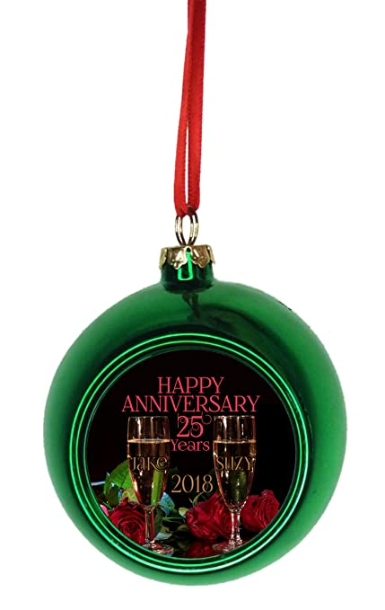 Christmas Ornaments With Names On Them.Amazon Com Rosie Parker Inc Ornament 25th Anniversary