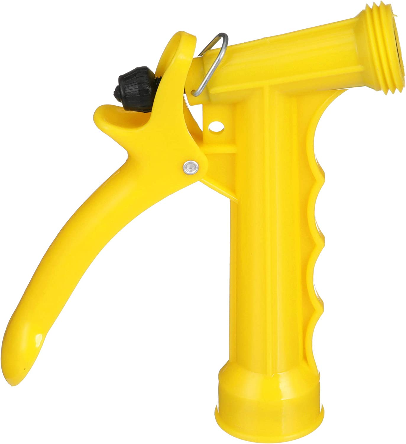 Seachoice 79601 Plastic Hose Nozzle with Locking Spray Lever and Stainless Steel Return Spring Yellow 5-1/2""