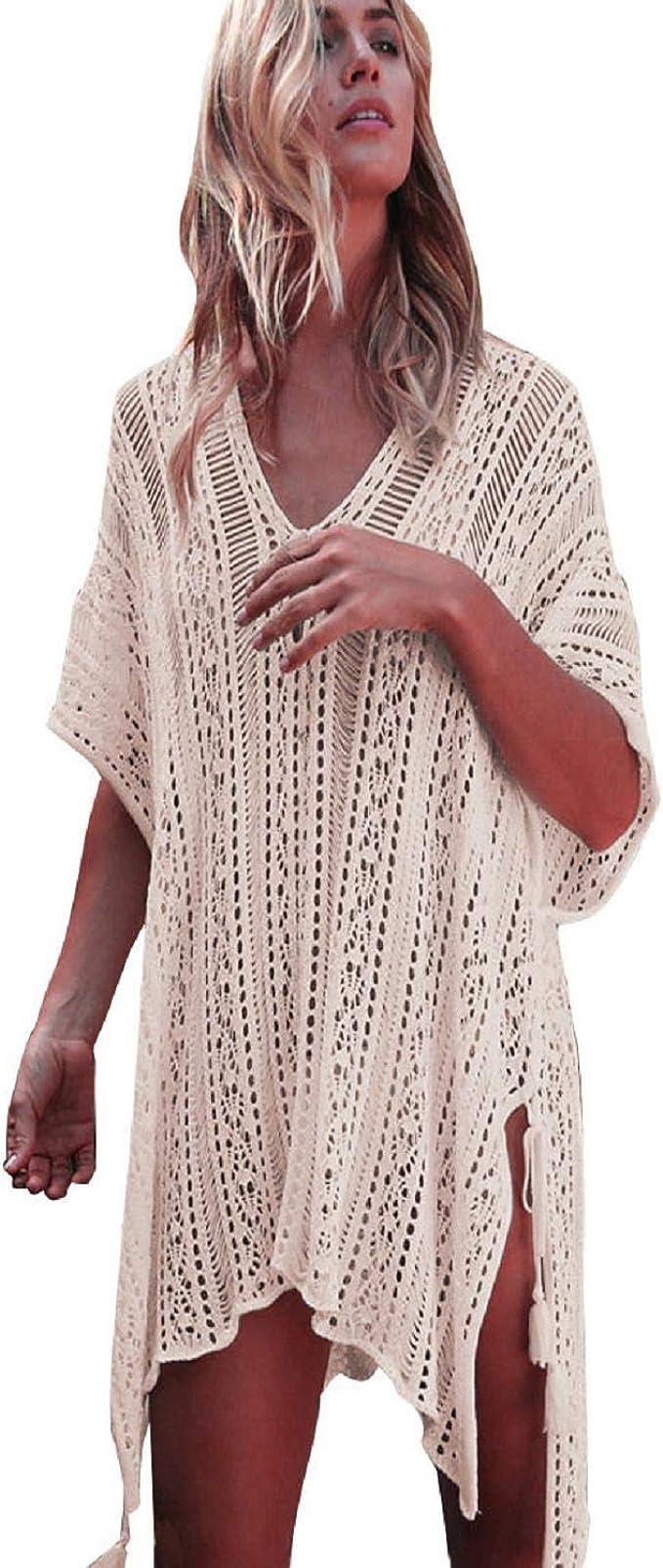 Oyamiki Women Chiffon Tassel Swimsuit Bikini Stylish Beach Cover up