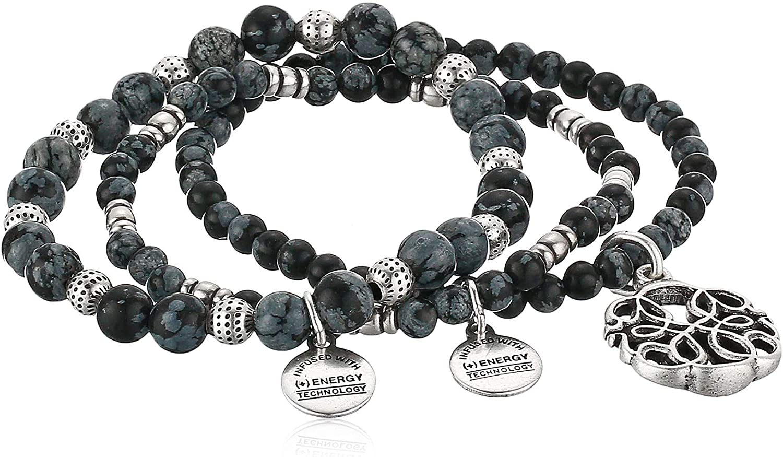 Alex and Ani Path of Life Set of 3 Stretch Bracelet