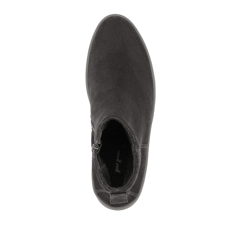 Paul Grün 9420-013 9420-013 9420-013 Damen Stiefel mit 35-mm-Plateausohle Warmfutter Veloursleder 6bc778