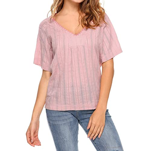 Cotton Blouse Summer M Amazon Com