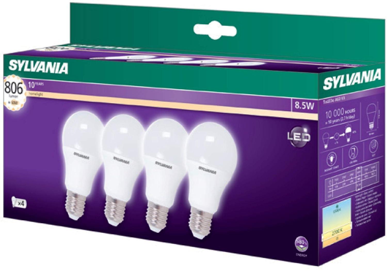 Sylvania 4x LED Lampe ToLEDo A60 - Energiesparlampe, neutralweiß (E-27, 8.5 Watt, 4000K) Feilo Sylvania Germany GmbH