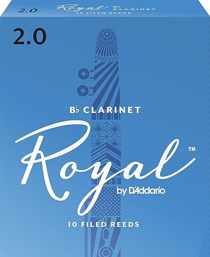 Royal Bb Clarinet Reeds, Strength 2 0, 10-pack