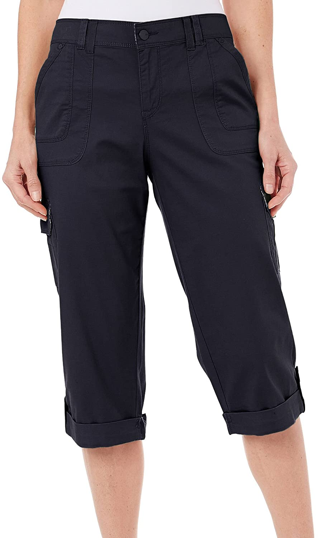 Gloria Vanderbuilt Women's Jeans Shorts Capri Confort Waist