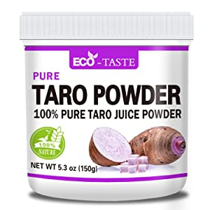 100% Pure Taro Powder, All Natural Taro Root Powder, 5.3oz(150g), Perfect for Baking Food, No Filler, No Fmo