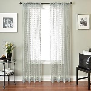 Softline Home Fashions Windsor Honeycomb Series Window Panel, Antique Blue, 55 x 84