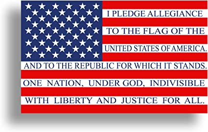 """One Nation Under God American Flag Support Sticker Car Decal Truck laptop …8/"""""""