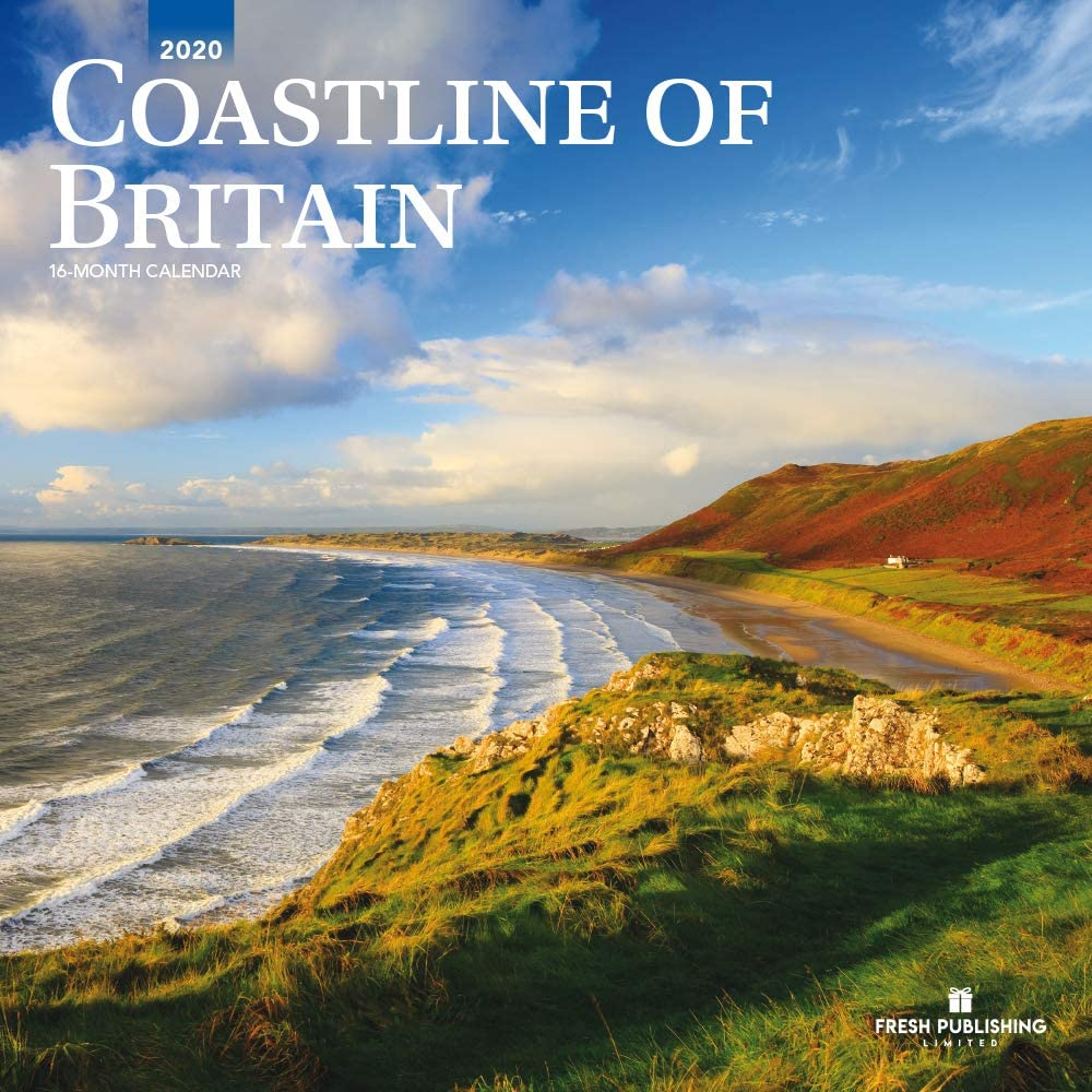 Coastline of Britain, 2020 Calendario de pared grande, por Fresh Publishing, tamaño 12 x 24 pulgadas (abierto), buena calidad, grueso y resistente papel ecológico (FSC).: Amazon.es: Oficina y papelería