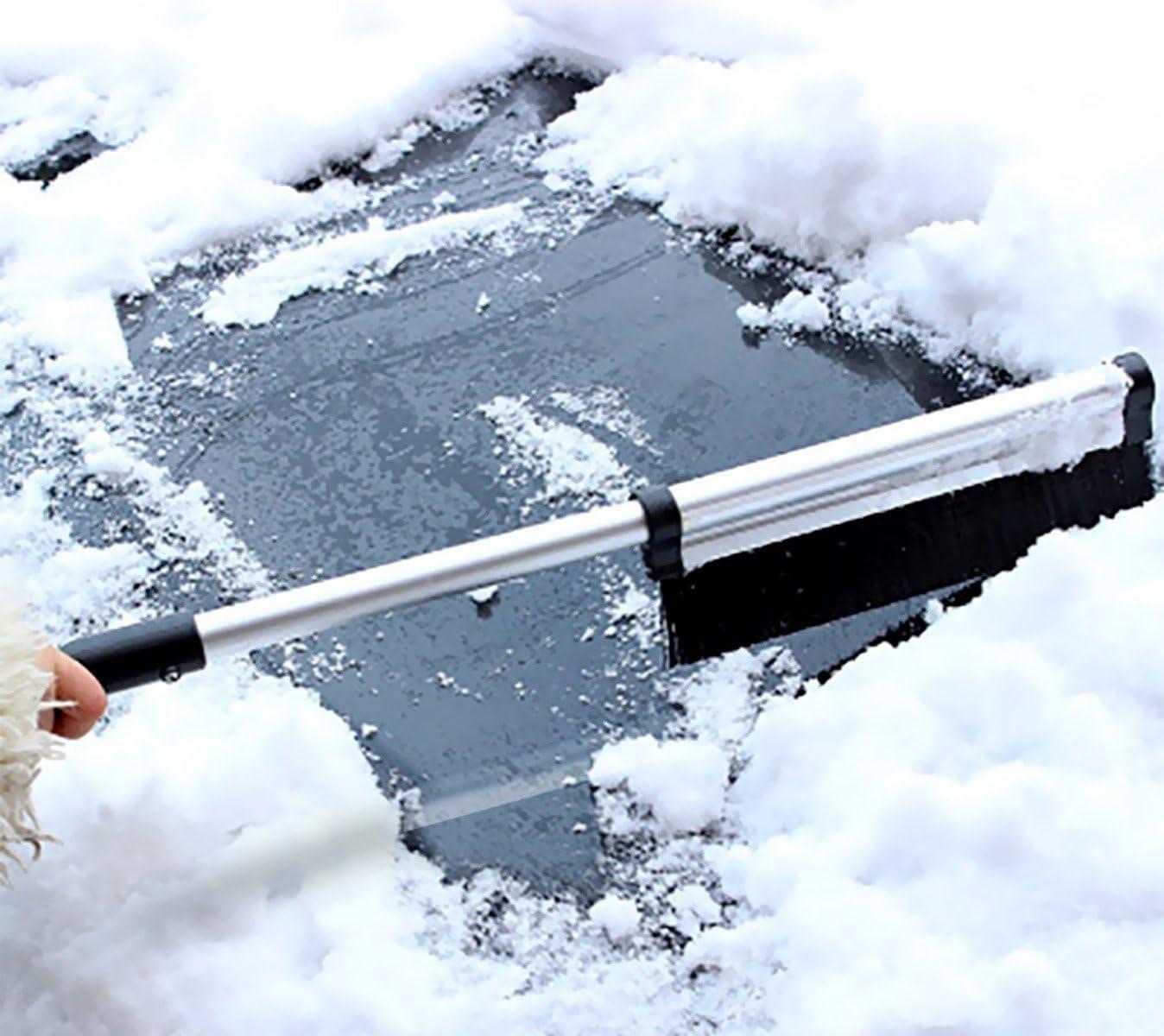 Lightweight Sturdy Aluminium Design 1 pack Fashion vehicle Snow Ice Scraper for Car 2 in 1 Seicosy Extendable Telescoping SnowBrush Shovel Removal Brush Winter