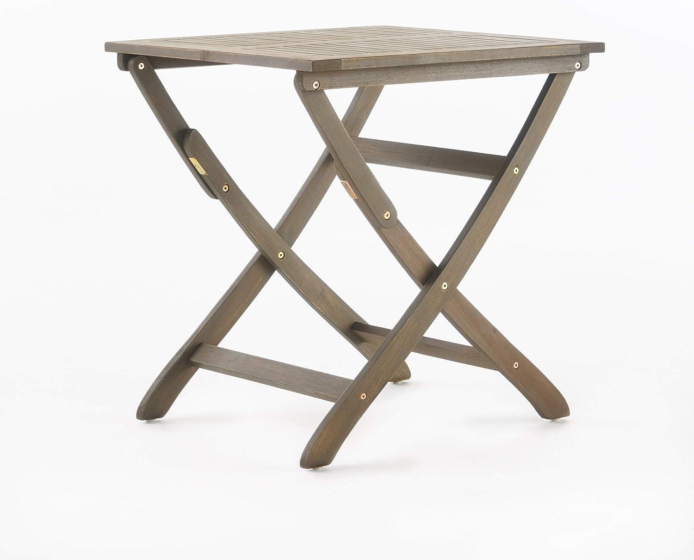 Christopher Knight Home アウトドア用折りたたみ式アカシア木製ビストロテーブル、風化仕上げ 301207 141[並行輸入]