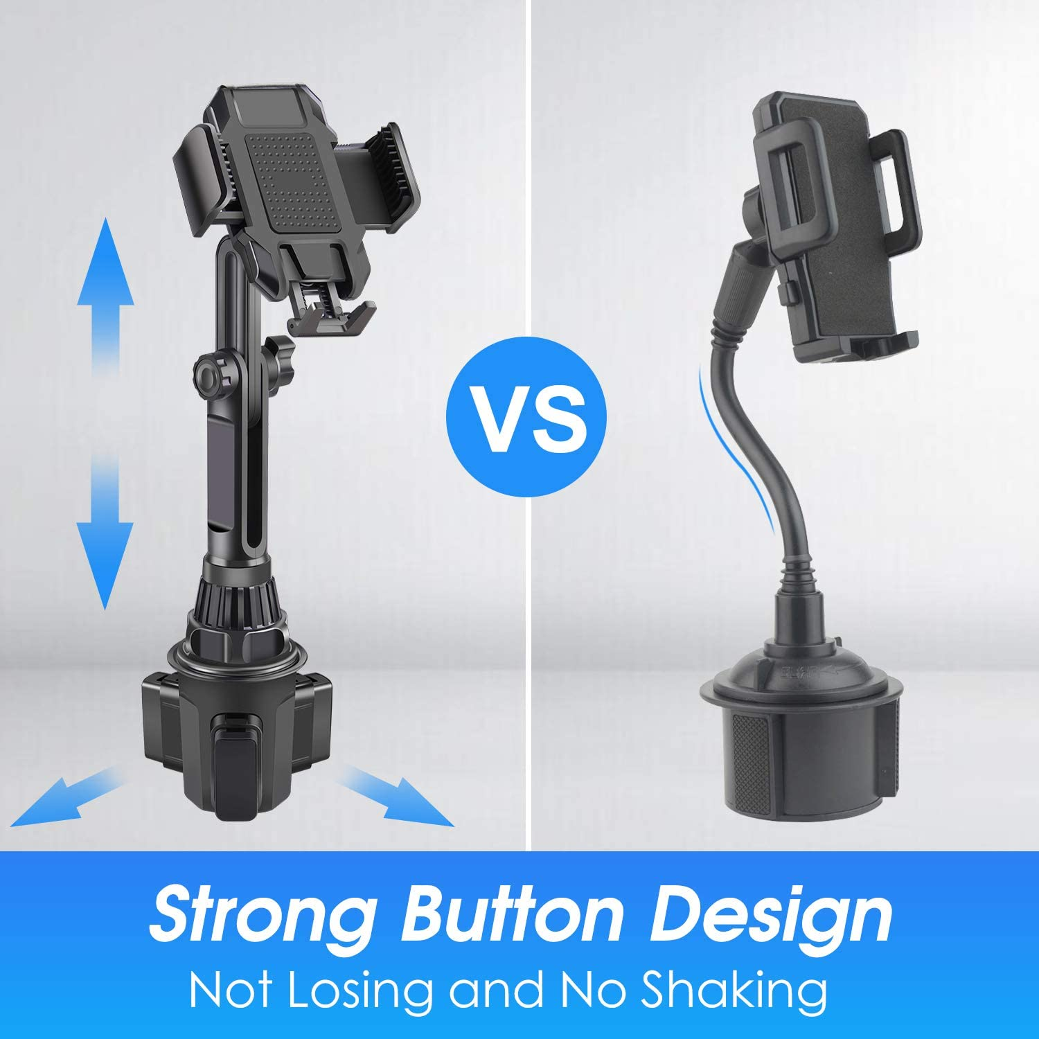/Universal Adjustable Cup Holder Cradle Car Mount for Cell Phone iPhone 11 Pro//XR//Xs//XS Max//X//8//7Plus//Galaxy//Samsung Car Cup Holder Phone Mount