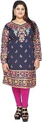Unifiedclothes Plus Size (Upto 9XL) Women Indian Pakistani Kurti Tunic Kurta Top Shirt Dress EPlus109C