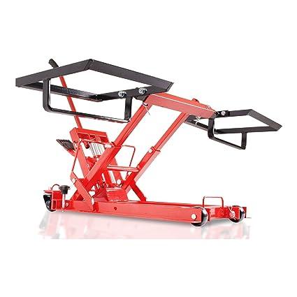 Heavy Duty elevador hidráulico de tractor cortacésped ATV Quad Garaje Taller Jack soporte