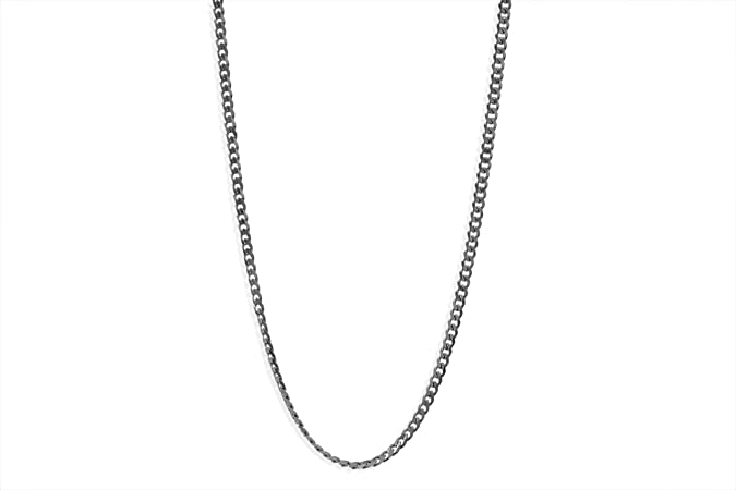 6mm 16-40 Silver Stainless Steel Rope Necklace Chain SANDRA Mens Jewelry 2.4mm