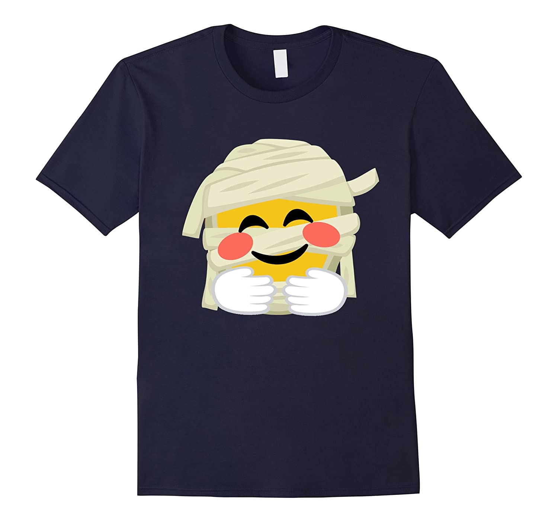 Mummy Emoji T-Shirt Big Hugs Halloween Costume Gift-FL