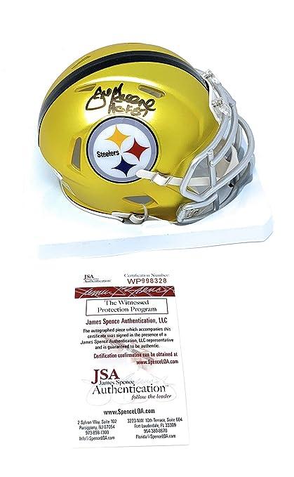 6dc174bffaf Joe Greene Pittsburgh Steelers Signed Autograph BLAZE Speed Mini Helmet HOF  Inscribed JSA Witnessed Certified