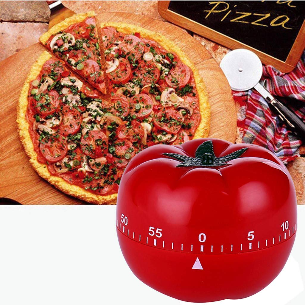 Tpingfe Tomato Mechanical Kitchen Timer Game Count Down Counter Alarm Cooking Tool 60m