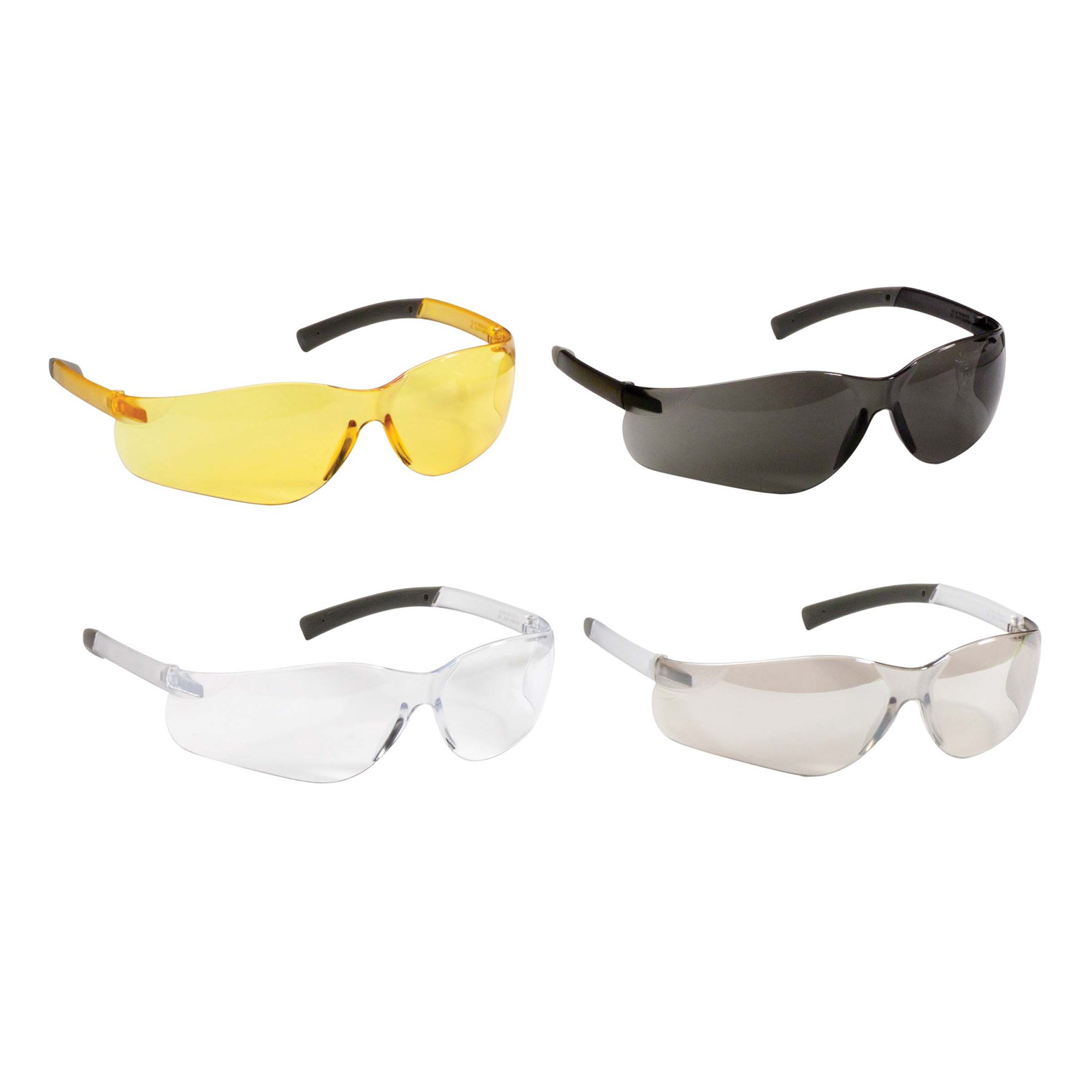Jackson Safety V20 Purity Safety Glasses (25652), UV Protection, Hardcoated Smoke Lenses with Black Temples, 12 Pairs/Case by Jackson Safety (Image #3)