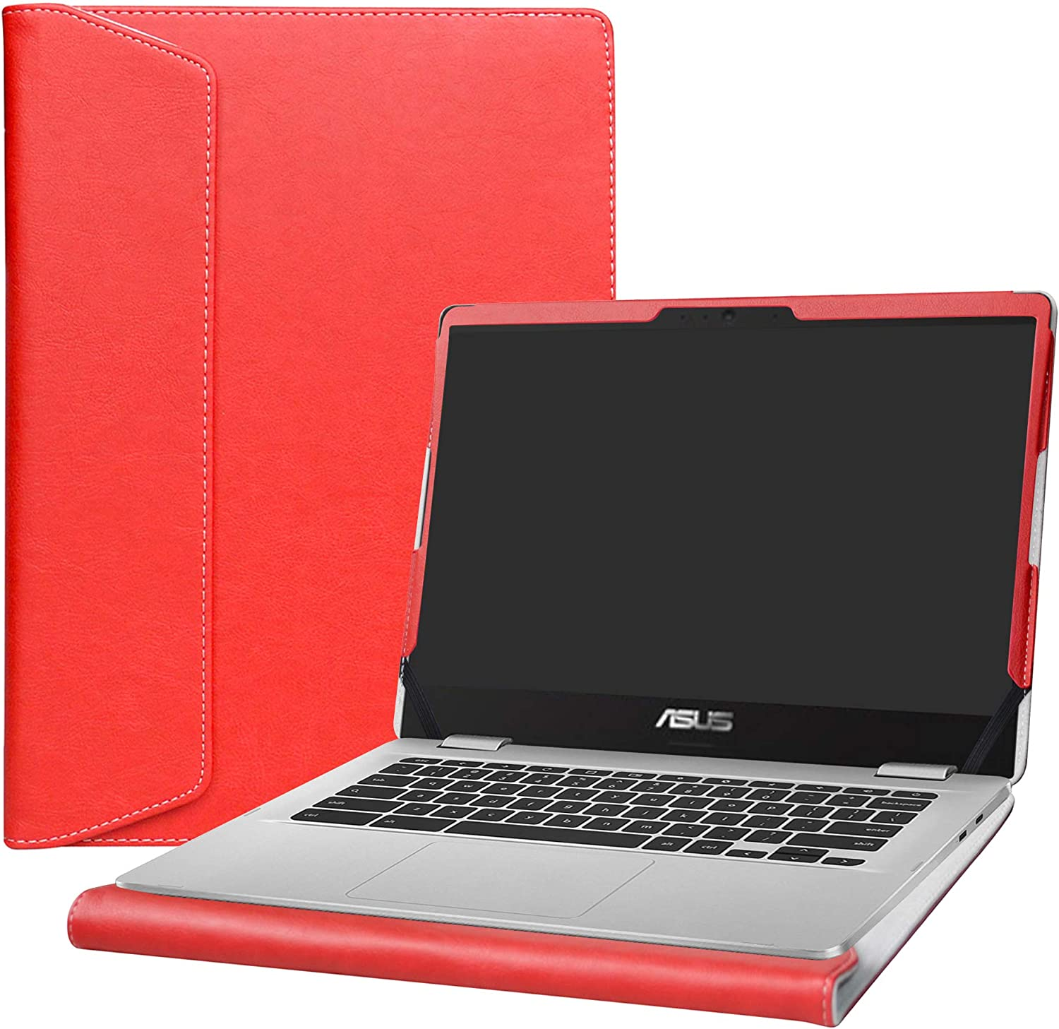 """Alapmk Protective Case Cover for 14"""" ASUS Chromebook C423NA c423na-dh02 & ACER Swift 3 14 SF314-55 SF314-55g SF314-56 Laptop(Note:Not fit Swift 3 SF314-51 SF314-57 SF314-52 SF314-53),Red"""